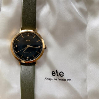 ete - ete 腕時計 ボーイフレンドウォッチ ダイヤモンド レザーベルト