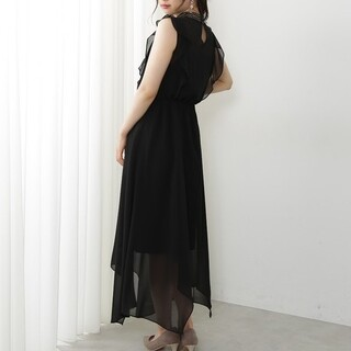 PROPORTION BODY DRESSING - フロントレースネックドレス