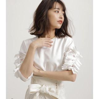 ドゥロワー(Drawer)の⭐︎阪急別注⭐︎FORMO リボンデザインTシャツ サイズ1(Tシャツ/カットソー(七分/長袖))