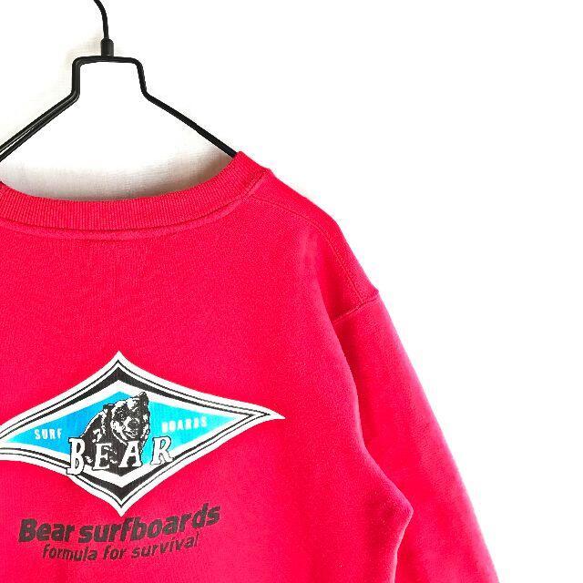 Bear USA(ベアー)の【希少カラー】BEAR ベアー ビックロゴ トレーナー スウェット 赤 L メンズのトップス(スウェット)の商品写真