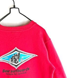 ベアー(Bear USA)の【希少カラー】BEAR ベアー ビックロゴ トレーナー スウェット 赤 L(スウェット)