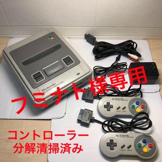 ニンテンドウ(任天堂)の【すぐに遊べます】スーパーファミコン&ソフト9本セット(家庭用ゲーム機本体)