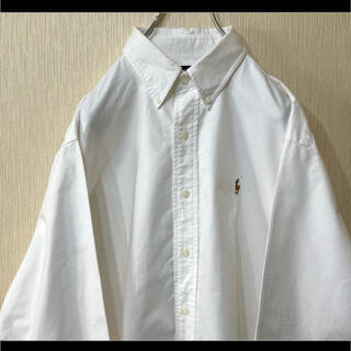 Ralph Lauren - ラルフローレン BDシャツ ホワイト マルチポニー オーバーサイズ 90s