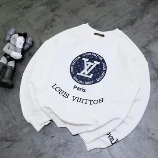 LOUIS VUITTON - 刺繡ロゴデニムパッチステッチウェットシャツ  トレーナー