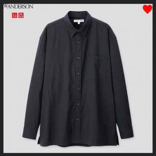 UNIQLO - 春シャツ ユニクロJWアンエクストラファインコットンオーバーサイズシャツ