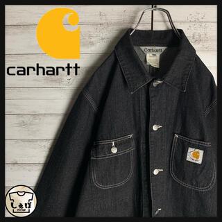 carhartt - 【入手困難】カーハート☆ワンポイントロゴデニムシャツジャケット 即完売 定番美品