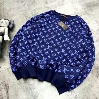 LOUIS VUITTON - ファッションフルプリントのロゴスウェットシャツ   トレーナー