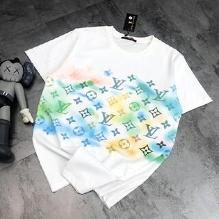 LOUIS VUITTON - 新しいグラデーションフルプリントロゴ半袖Tシャツ