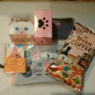 KALDI - カルディ ニャンコーヒーセットとネコ型チョコとカレンダー