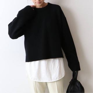 FRAMeWORK - 新品 FRAMeWORK 後ろラップ プルオーバー セーター ブラック