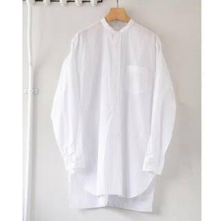 COMOLI - 20ss comoli バンドカラーシャツ ホワイト コモリ