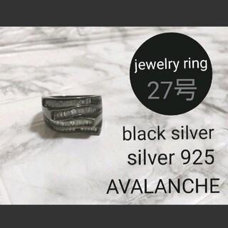 アヴァランチ(AVALANCHE)のAVALANCHE【black silver】jewelry ring 27号(リング(指輪))