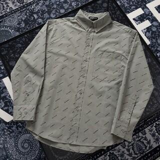 Balenciaga - ファッションフルロゴの長袖シャツ