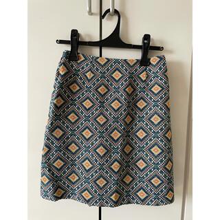 シマムラ(しまむら)の新品未使用 デザインスカート ターコイズ Chip clip Mサイズ(ミニスカート)