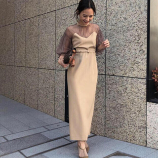 Ameri VINTAGE - Ameri vintage TULLE SLEEVE TIGHT ドレス