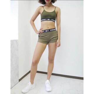 Honey mi Honey - ハニーミーハニー  logo sports bra& shortpantsセット