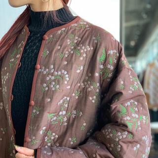 mame - mame kurogouchi Floral Jacquard Coat