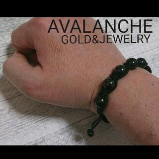 AVALANCHE - AVALANCHE 数珠ブレスレット black アヴァランチ
