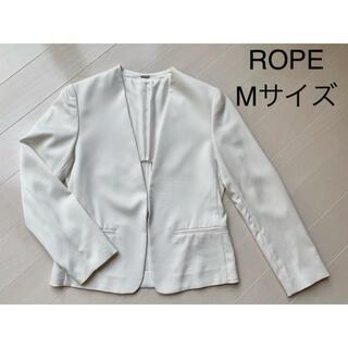 ロペ(ROPE)のROPE ノーカラージャケット 美品(ノーカラージャケット)