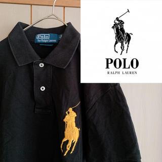 POLO RALPH LAUREN - ラルフローレン デザイン刺繍ポロシャツ ビッグポニー