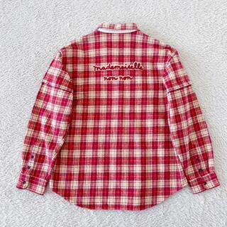 PINK HOUSE - マドモアゼルノンノン パパス 長袖チェックシャツ 大きいサイズ