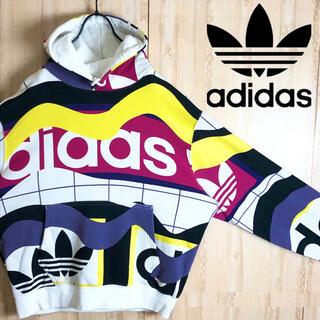 adidas - adidas アディダス パーカー マルチカラー 大きめ スポーツMIX 90s