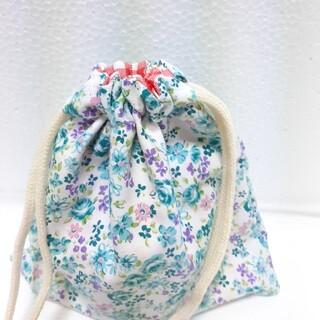 小花柄 コップ袋(外出用品)