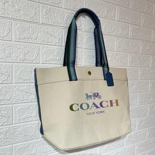 COACH - 【大人気・レア商品★】COACH コーチ カラフル ロゴ トートバッグ