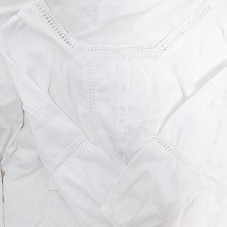 匿名配送 ♡ オフショルトップス シロ(シャツ/ブラウス(半袖/袖なし))