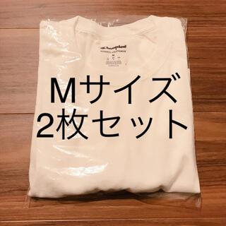 Champion - 【2枚セット】champion チャンピオン メンズ 半袖 Tシャツ 白T M