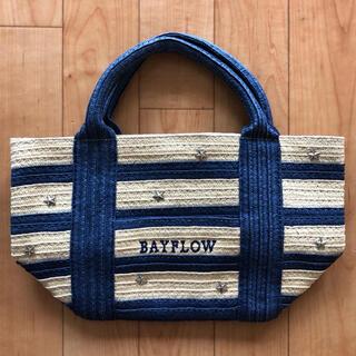 BAYFLOW - 【BAYFLOW  ベイフロー】ペーパーボーダーロゴトートS