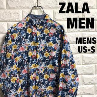 ZARA - ZALA  ザラ 長袖シャツ 花柄 総柄 メンズUS-Sサイズ