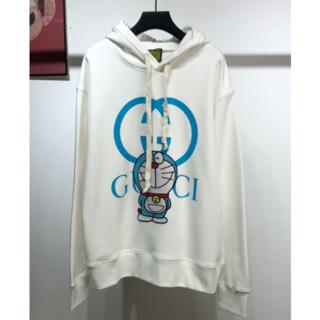 Gucci - GUCCI★ドラえもんコラボ★ホワイト パーカー M