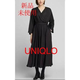 UNIQLO - 【新品未使用】UNIQLO*カシュクールワンピース*送料込