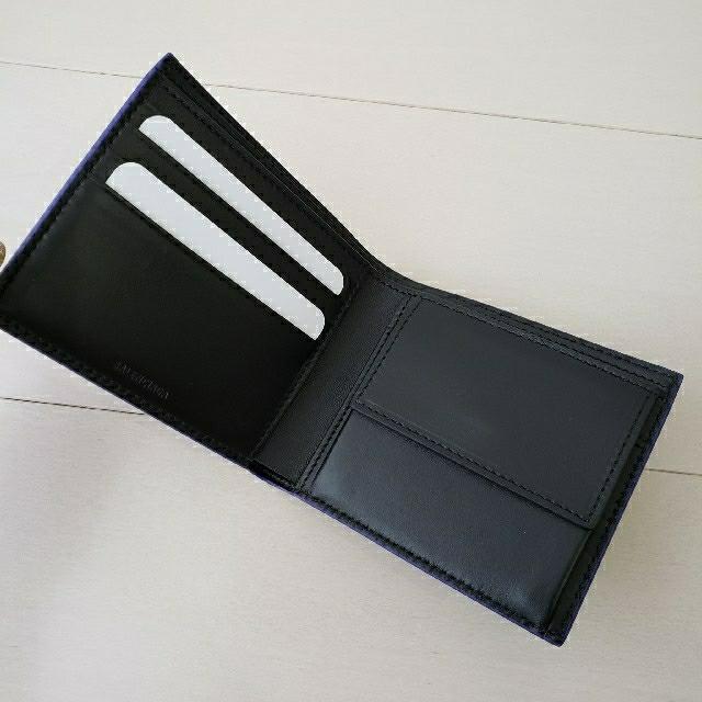 Balenciaga(バレンシアガ)の新品同様【バレンシアガ】ペイズリー ロゴプリント 2つ折り財布 メンズのファッション小物(折り財布)の商品写真