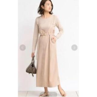 ドゥドゥ(DouDou)のDOUDOU 春服 ジャンパースカート カットソー セット ワンピース(ロングワンピース/マキシワンピース)