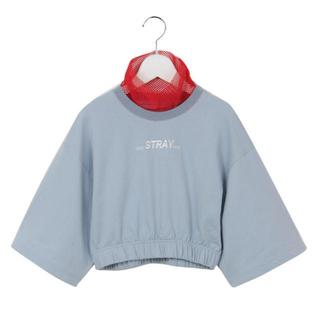ワンスポ(one spo)のone spo ワンスポ ハイネック 赤 レース 水色 stray ショート丈(Tシャツ(半袖/袖なし))