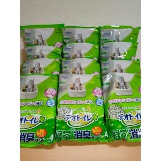 ユニチャーム(Unicharm)の【送料無料】デオトイレ飛び散らない  緑茶成分入り消臭サンド 4L × 12袋(猫)