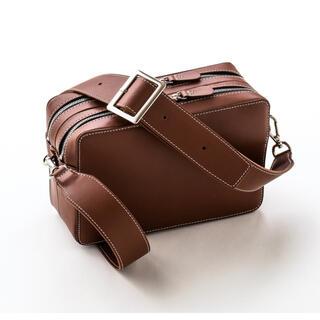 DEUXIEME CLASSE - YONFA square shoulder brown BAG バッグ ブラウン