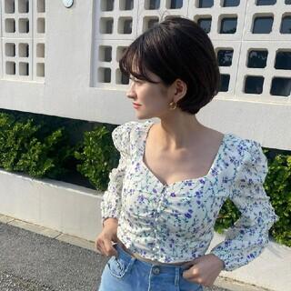 《即納》flower square neck blouse(シャツ/ブラウス(長袖/七分))