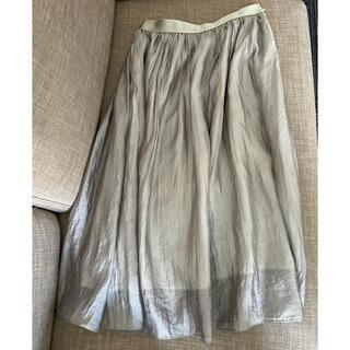 マルティニークルコント(martinique Le Conte)のマルティニーク シルクふんわりスカート(ひざ丈スカート)