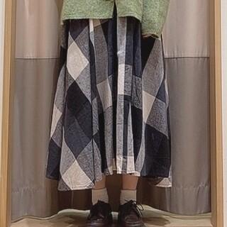 SM2 - 新品 サマンサモスモス リネン混柄アソートフレアスカート