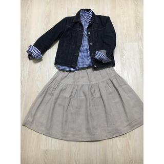 FRAMeWORK - フレームワーク リネン素材 スカート 膝丈 ナチュラル リネンスカート