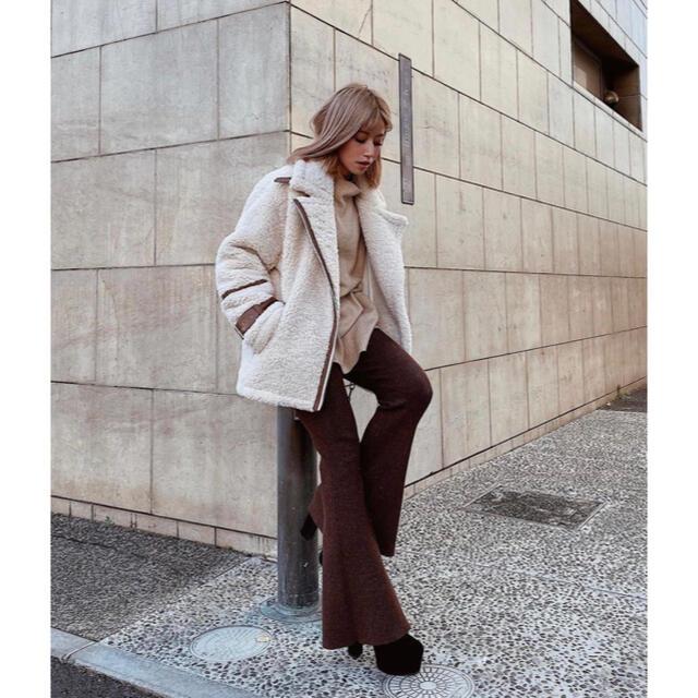 eimy istoire(エイミーイストワール)のeimy istoire  ビッグボアジャケット レディースのジャケット/アウター(毛皮/ファーコート)の商品写真