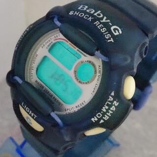 カシオ(CASIO)のBaby-G 370 イルクジ カスタム染色ブルー💙(腕時計(デジタル))