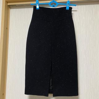 モスキーノ(MOSCHINO)のMOSCHINO  ツイードタイトスカート ラメ入り イタリア製(ひざ丈スカート)