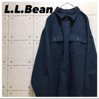 エルエルビーン(L.L.Bean)のL.L.Beanエルエルビーン•長袖•90s•胸ポケット•ネイビー•XL(シャツ)