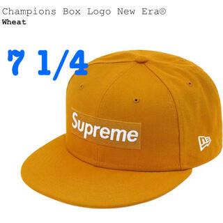 シュプリーム(Supreme)のSupreme NewEra boxlogo cap Wheat 7 1/4(キャップ)