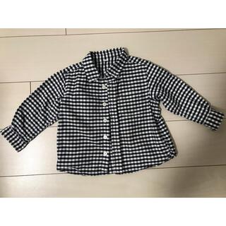 MUJI (無印良品) - 無印良品  チェックシャツ  90