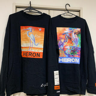 オフホワイト(OFF-WHITE)のHERON ロンT 2枚セット売り(Tシャツ/カットソー(七分/長袖))